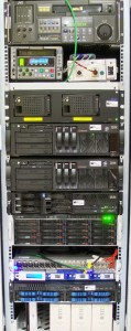 Server-Rack within Data Processing Center © Nageldinger Film