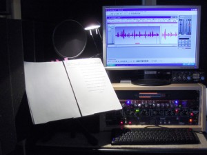 Inside the voice-over cabin © Nageldinger Film
