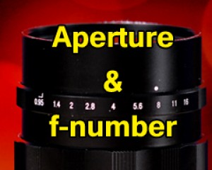 #01 Aperture and f-number